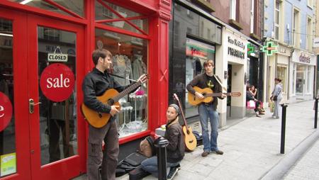 Straßenmusik in Wexford